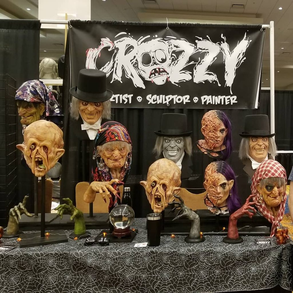 Monster Maker of the Month Runner Up Brandon Croslin's display at Mask Fest 2018