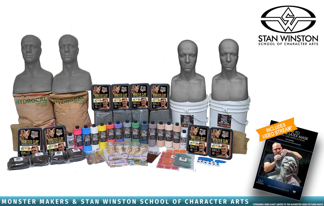 The Monster Makers Complete Latex Halloween Mask Making Kits -216