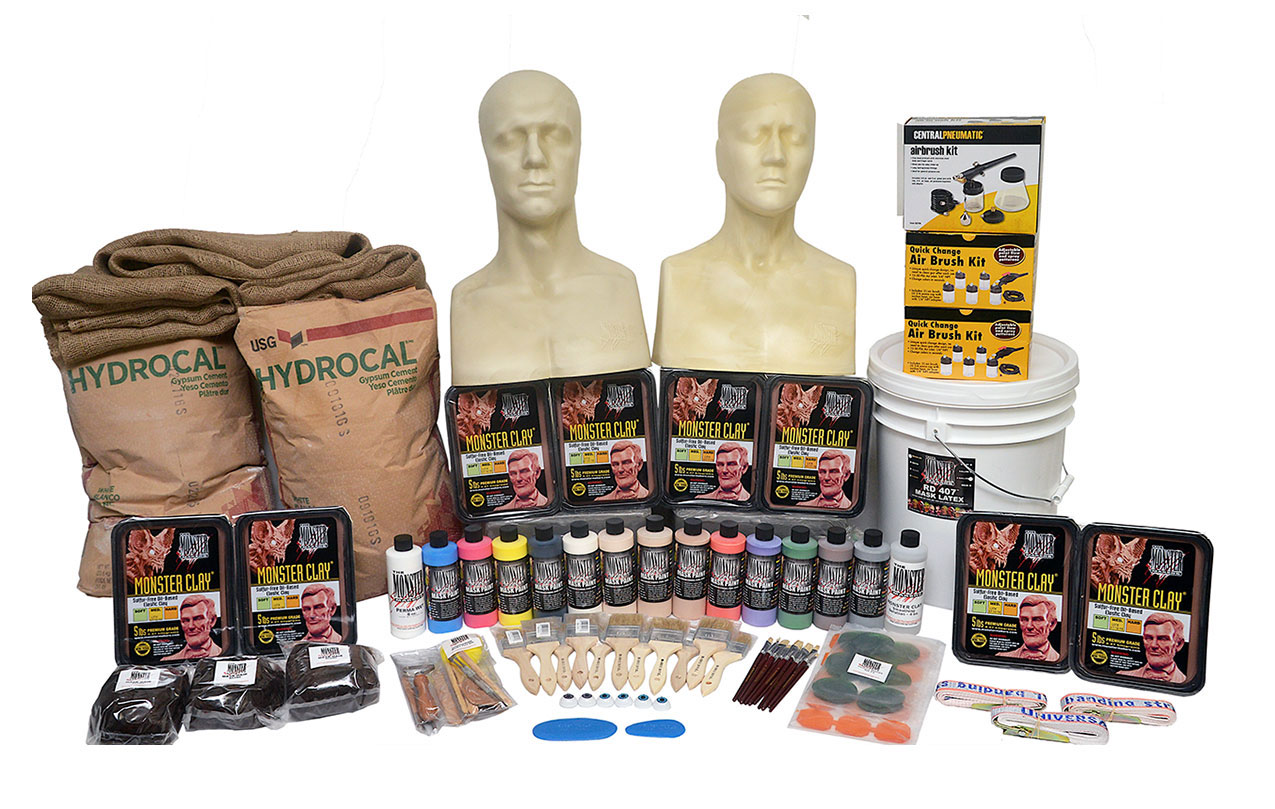 The Monster Makers Complete Latex Halloween Mask Making Kits -216 ...