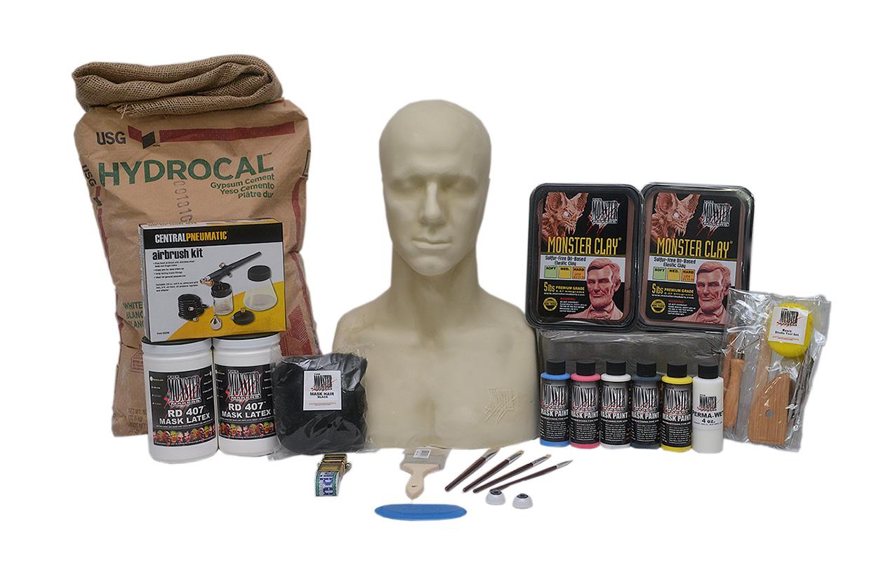 Complete, Basic Latex Rubber Halloween Mask Making Kit