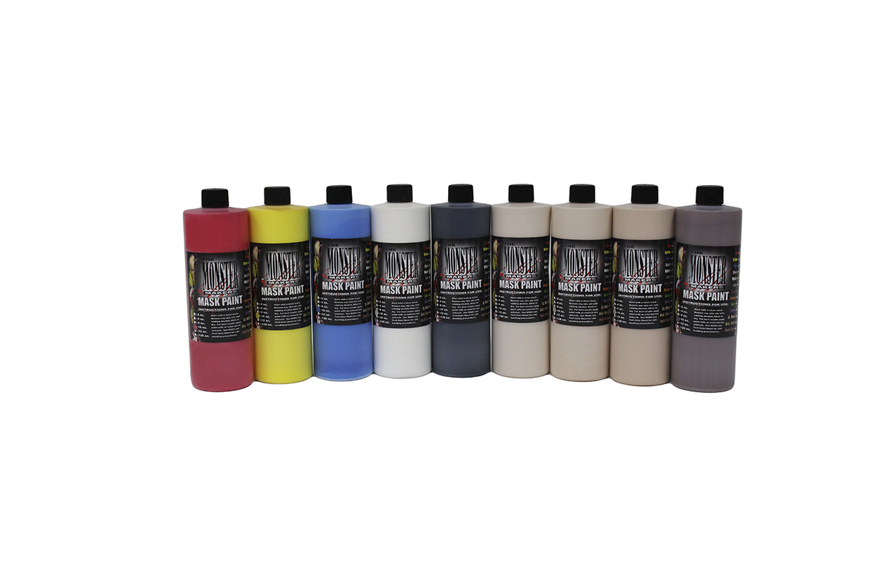 Monster Makers Latex Mask Paint Kits for Halloween Masks